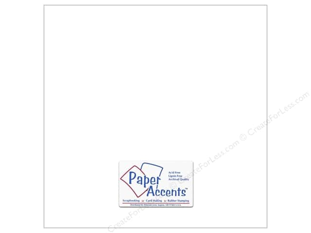 Cardstock 12 x 12 in. #10167 Stash Builder Intense White by Paper Accents (25 sheets)