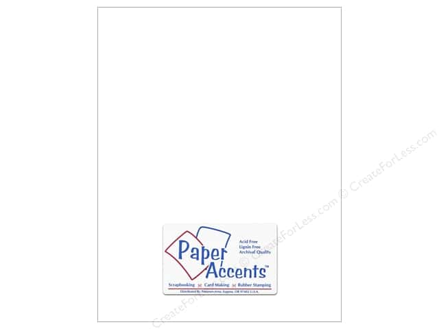 Cardstock 8 1/2 x 11 in. #10167 Stash Builder Intense White by Paper Accents (25 sheets)