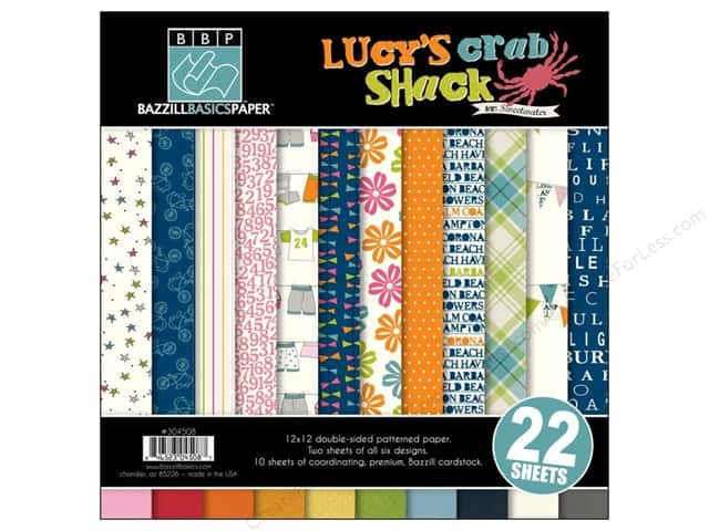 Bazzill 12 x 12 in. Multi Pack Lucy's Crab Shack 22 pc.