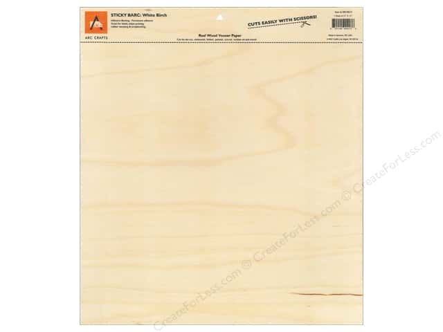 ARC STICKY BARC Wood Veneer 12 x 12 in. White Birch (12 pieces)