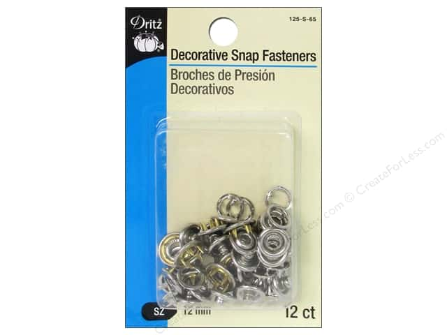 Decorative Snap Fasteners by Dritz 1/2 in. Circle Nickel 12 pc.