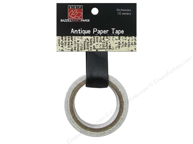 Bazzill Paper Tape Antique Dictionary