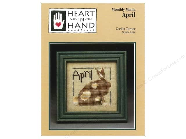 Heart In Hand Monthly Mania April Pattern by Cecilia Turner