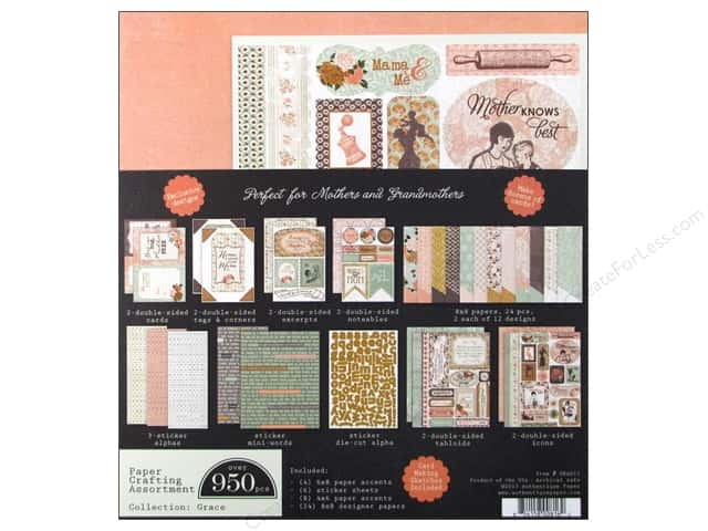 Authentique Paper Crafting Kit 8 x 8 in. Grace