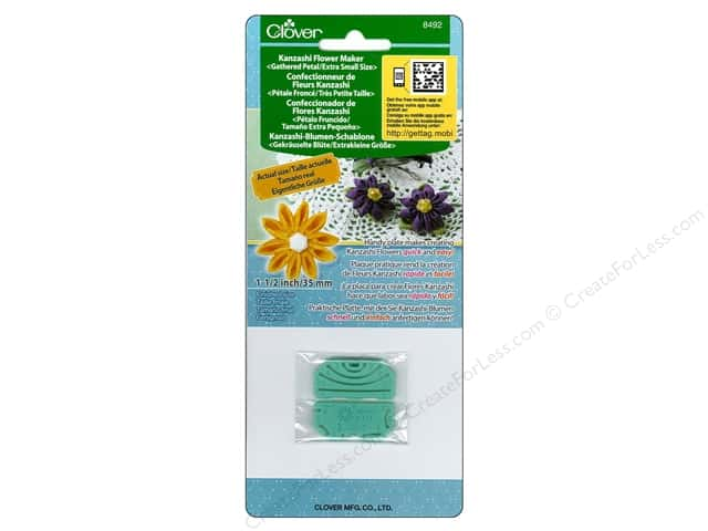Clover Kanzashi Flower Maker Gathered Petal Extra Small