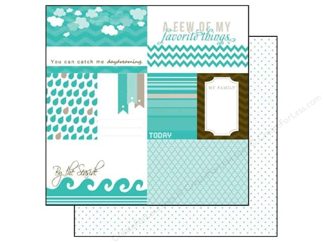 Echo Park 12 x 12 in. Paper Totally Teal Collection Journaling (15 pieces)