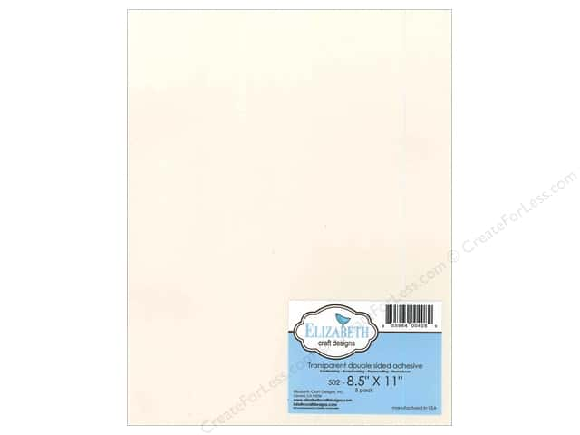 Elizabeth Craft Adhesive Double Side 8 1/2 x 11 in. Transparent 5pc