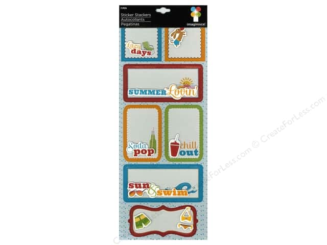 Imaginisce Stickers Endless Summer Stacker Lazy Days