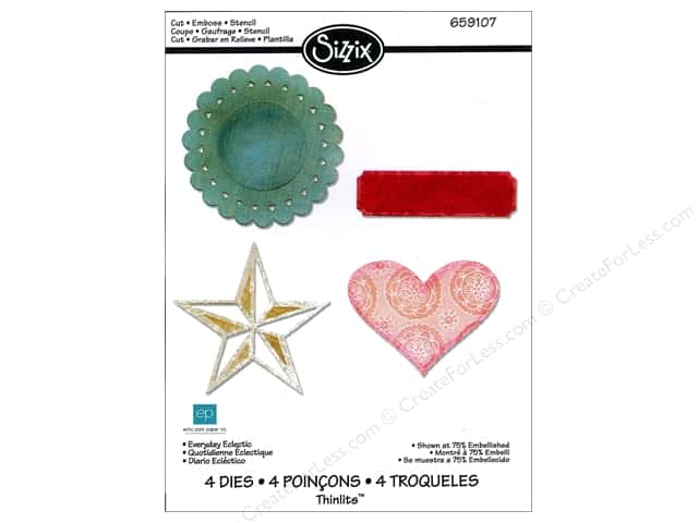 Sizzix Thinlits Die Set 4PK Everyday Eclectic by Echo Park Paper
