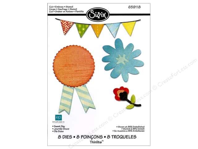 Sizzix Thinlits Die Set 8PK Sweet Day by Echo Park Paper