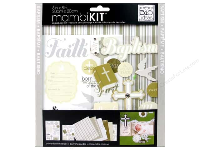 "Me&My Big Ideas Kit Scrapbook 8""x 8"" Neutral Baptism"