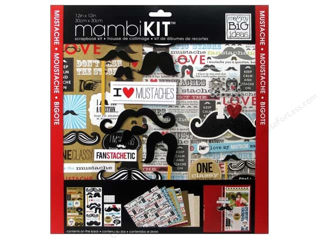 Me & My Big Ideas 12 x 12 in. Scrapbook Kit Mustache