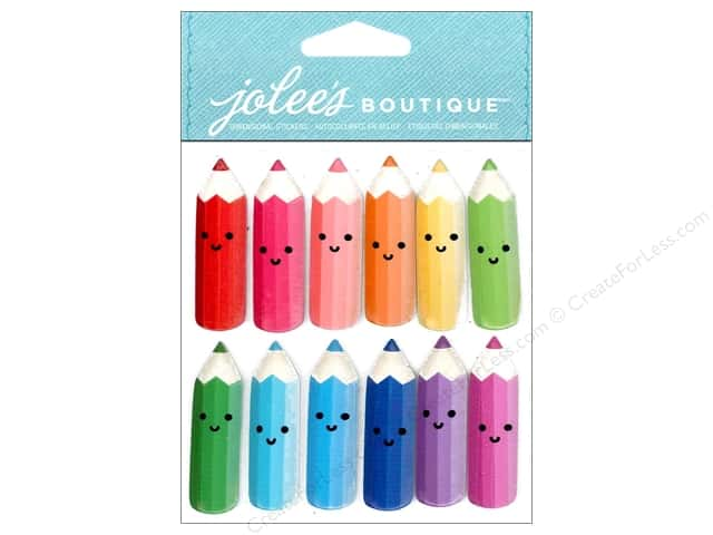 Jolee's Boutique Stickers Bright Colored Pencils