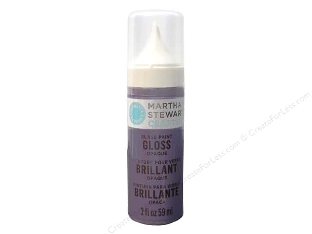 Martha Stewart Glass Paint by Plaid 2 oz. Gloss Opaque Hydrangea Purple