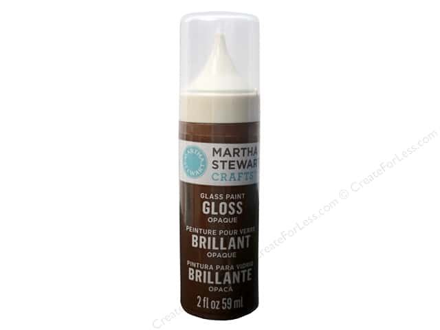 Martha Stewart Glass Paint by Plaid 2 oz. Gloss Opaque Chestnut Brown