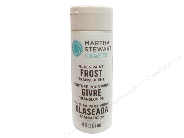 Martha Stewart Craft Paint by Plaid Glass Frost Clear 6 oz.