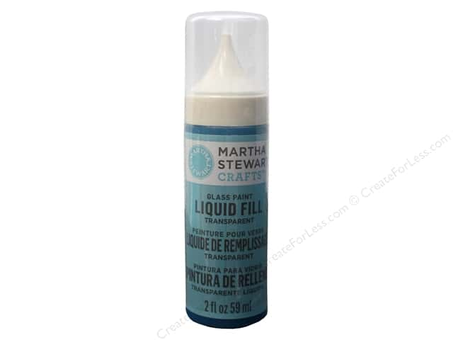 Martha Stewart Glass Paint by Plaid Liquid Fill Transparent Polar Blue 2oz