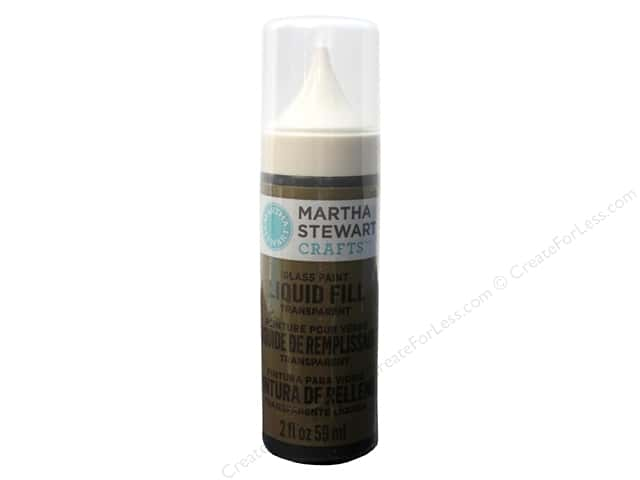 Martha Stewart Glass Paint by Plaid 2 oz. Liquid Fill Transparent English Tea