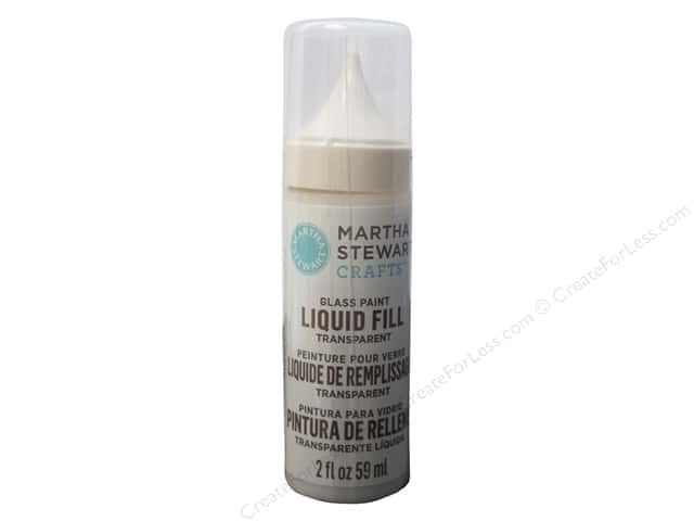 Martha Stewart Glass Paint by Plaid Liquid Fill Transparent Meringue 2oz