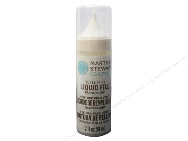 Martha Stewart Glass Paint by Plaid Liquid Fill Transparent Crystal Clear 2oz