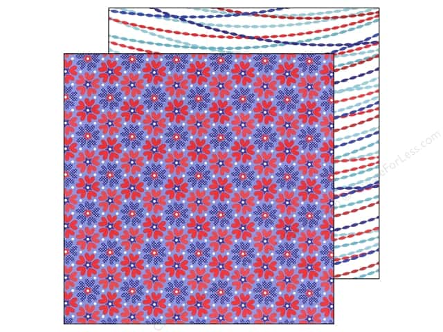Doodlebug Paper 12 x 12 in. Stars & Stripes Freedom Flower (25 pieces)