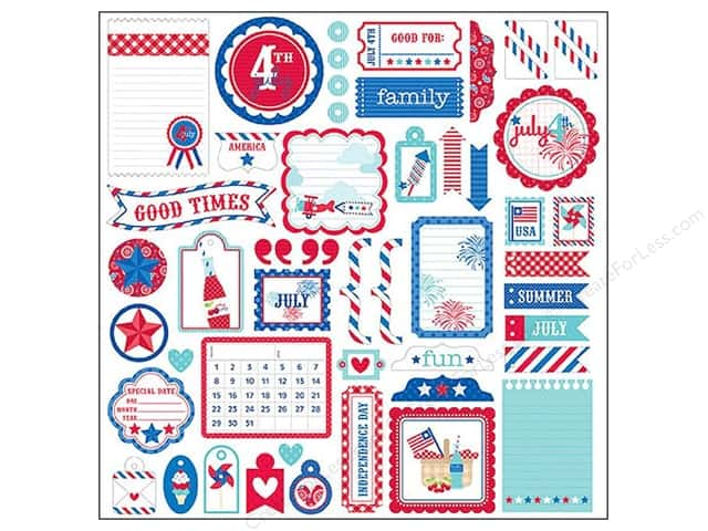 Doodlebug Stickers Cardstock This & That Stars & Stripes