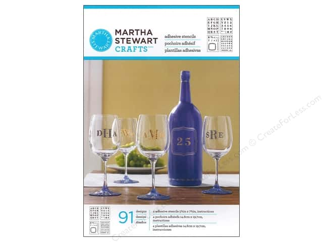 Martha Stewart Stencils by Plaid Adhesive Glass Bold Serif Alphabet