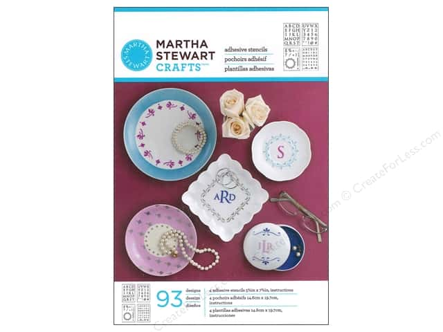 Martha Stewart Stencils by Plaid Adhesive Glass Classic Serif Alphabet