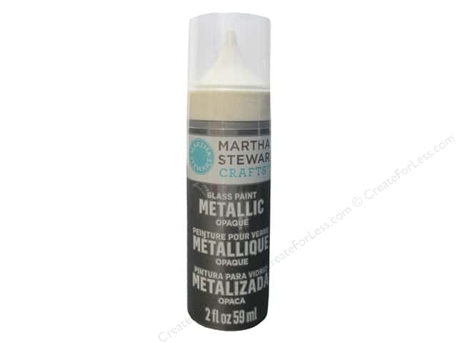 Martha Stewart Glass Paint by Plaid 2 oz. Opaque Metallic Antique Pewter