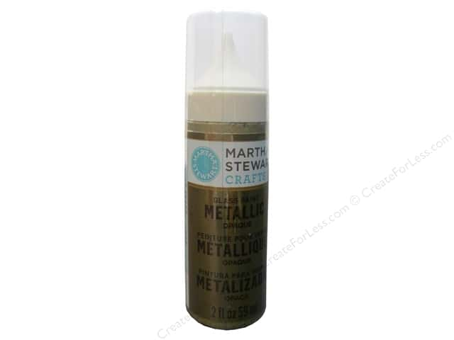 Martha Stewart Glass Paint by Plaid 2 oz. Opaque Metallic Gold