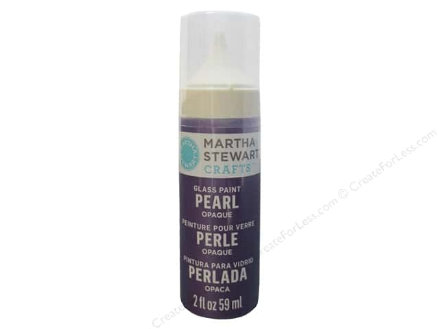 Martha Stewart Glass Paint by Plaid 2 oz. Opaque Pearl Purple Martin