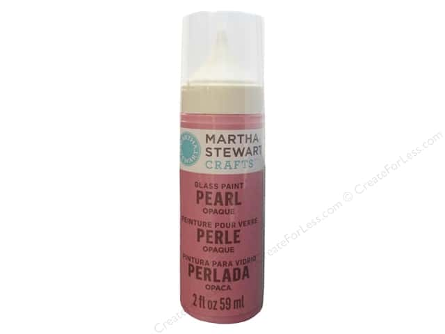 Martha Stewart Glass Paint by Plaid 2 oz. Opaque Pearl Pink Taffeta