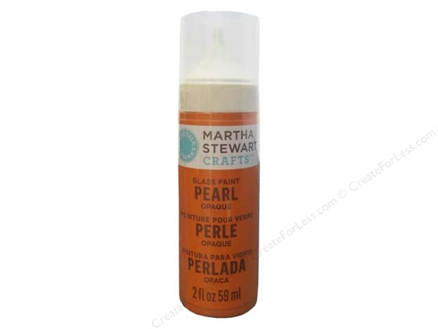 Martha Stewart Glass Paint by Plaid Opaque Pearl Tiger Lily 2oz