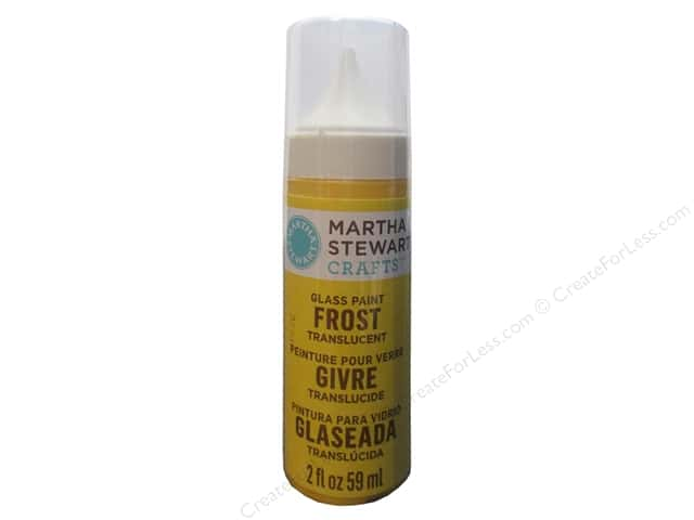 Martha Stewart Glass Paint by Plaid 2 oz. Frost Yellow Jacket