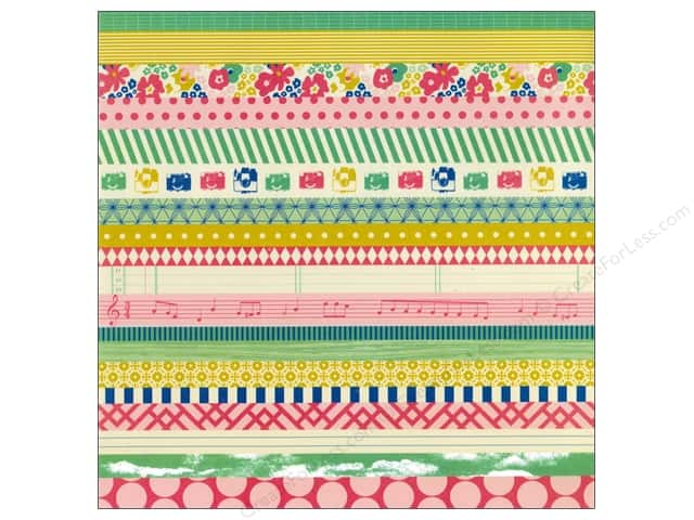 Crate Paper 12 x 12 in. Paper Maggie Holmes Signature Washi Paper (15 pieces)