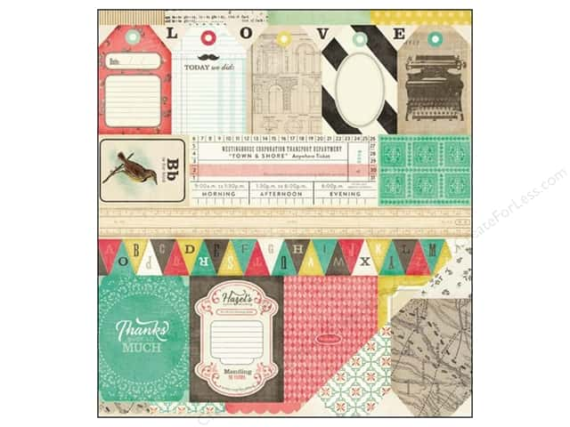 Crate Paper 12 x 12 in. Paper DIY Shop Borders (25 sheets)