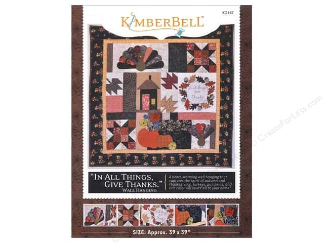 Kimberbell Designs In All Things Give Thanks Wall Hanging Pattern