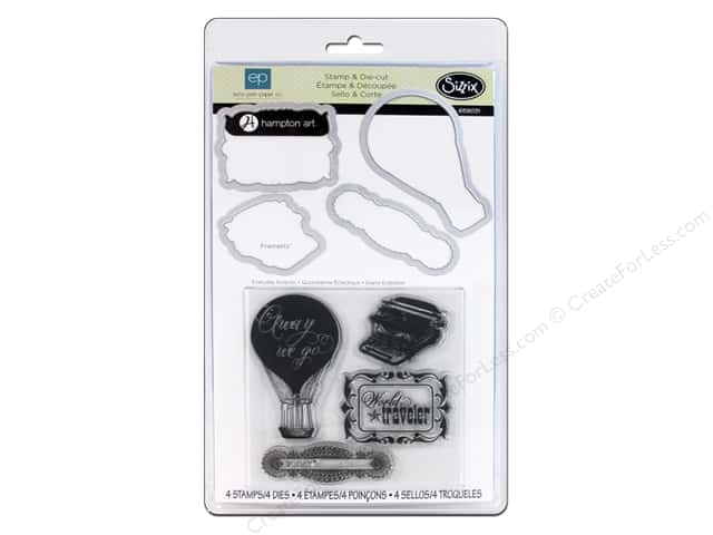 Sizzix Framelits Die Set with Stamps Everyday Eclectic by Echo Park