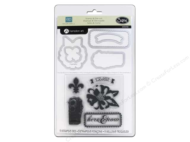Sizzix Framelits Die Set 5 PK w/Stamps For The Record 2 Documented #2 by Echo Park
