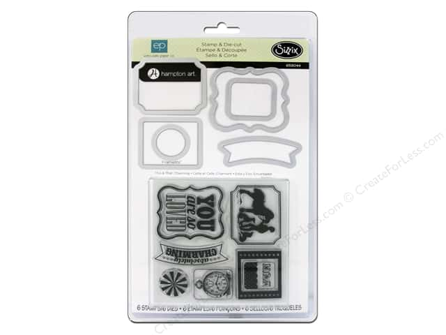 Sizzix Framelits Die Set 6 PK w/Stamps This & That Charming by Echo Park