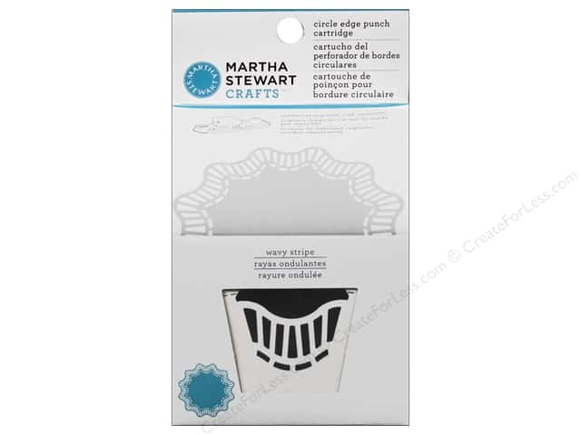 Martha Stewart Circle Edge Punch Cartridge Wavy Strip
