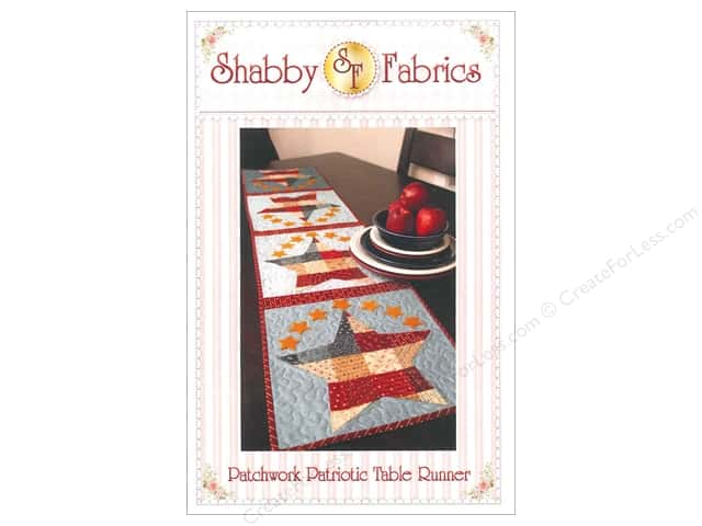 Shabby Fabrics Patchwork Patriotic Table Runner Pattern
