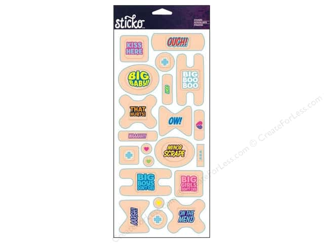 EK Sticko Stickers Labels Bandage