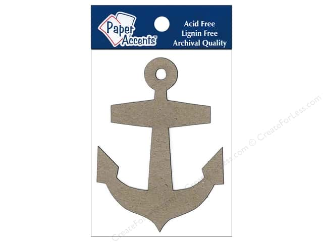 Paper Accents Chipboard Shape Anchor 8pc