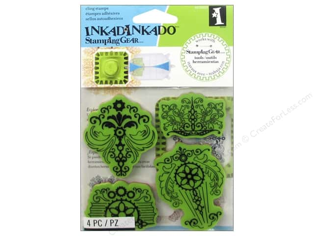 Inkadinkado InkadinkaClings Stamping Gear Rubber Stamp Vintage Parts