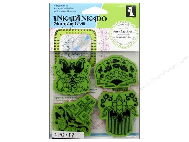 Inkadinkado InkadinkaClings Stamping Gear Rubber Stamp Far East