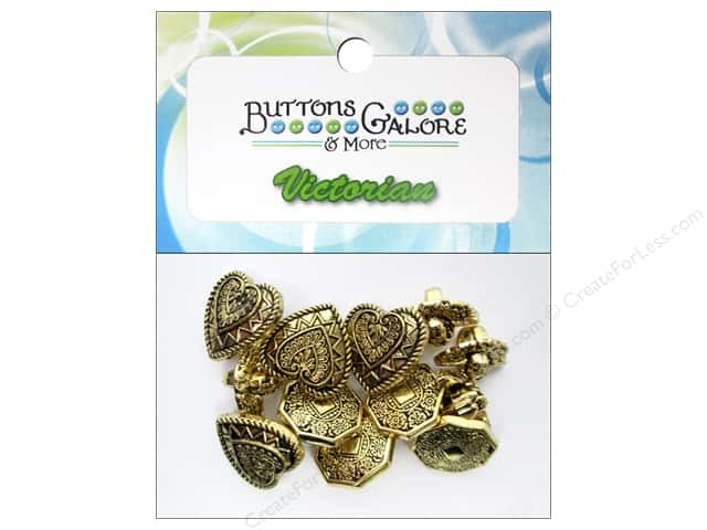 Buttons Galore Theme Victorian Vintage Gold