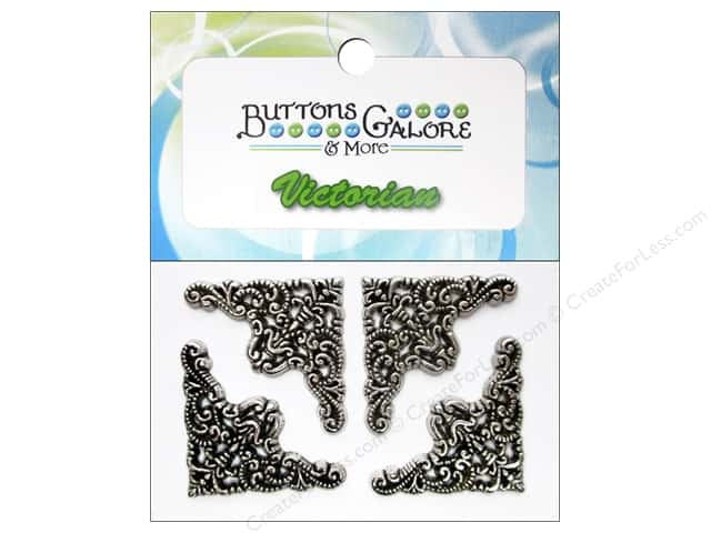 Buttons Galore Theme Buttons Silver Filigree