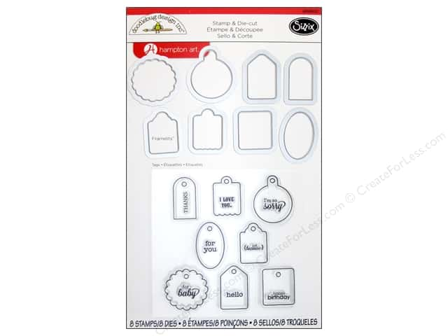 Sizzix Framelits Die Set with Stamps Tags by Doodlebug