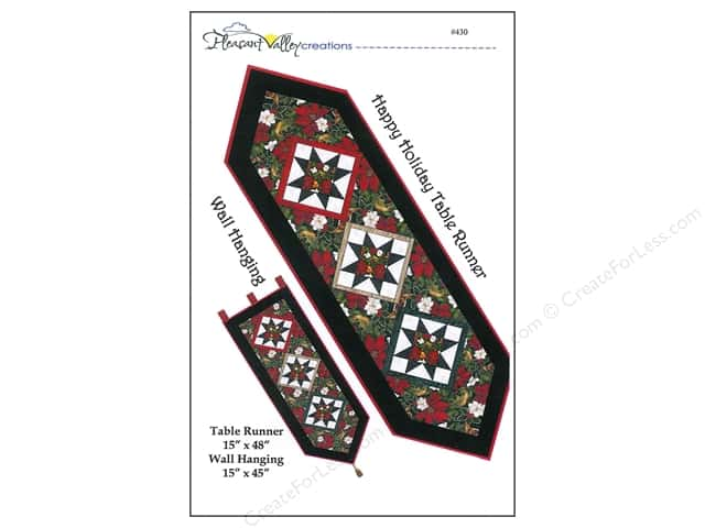Pleasant Valley Creations Happy Holiday Runner Pattern